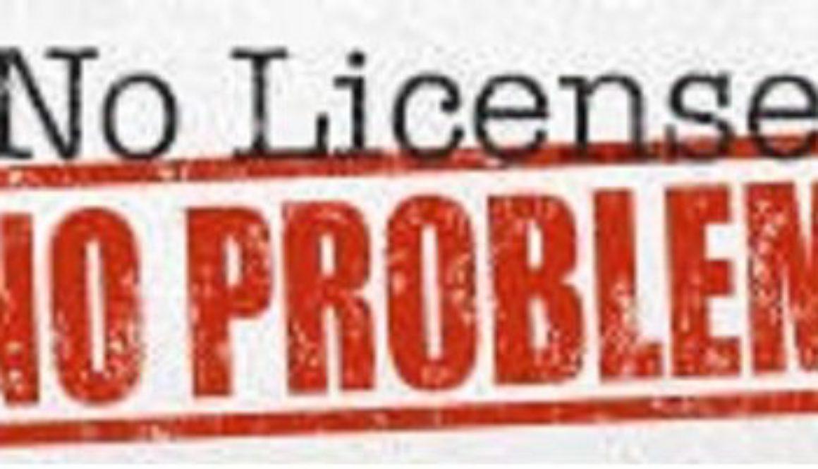 Без штрафа за отсутствие лицензии